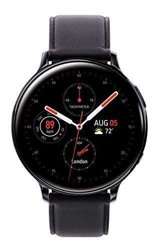 Samsung Galaxy Watch Active2 (44mm), Black (Stainless Steel - LTE Unlocked) - SM-R825USKAXAR  (US Version & Warranty) (Renewed)