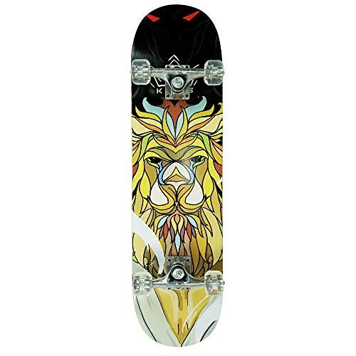 Komplette Skateboard 31 x 8.0 - Lion (Complete Skateboard) fur Kinder ab 5 Jahre und für anfänger. Mit ABEC 7 kugellager.