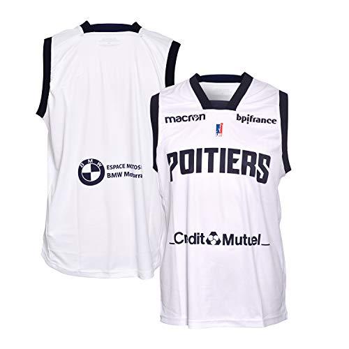 Poitiers Basket 86 - Camiseta Oficial de Baloncesto para niño 2018-2019, Niño, Color Blanco, tamaño FR : XXS (Taille Fabricant : 10 ANS)