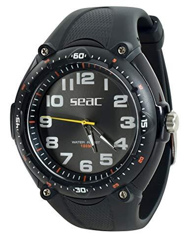 SEAC Mover, Orologio Lifestyle Resistente all'Acqua 100 m Unisex Adulto, Nero, Standard