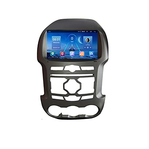 GOHHK Android Coche Radio Multimedia Player para Ford Ranger F250 2011-2015 Navegación WiFi Bluetooth 2 DIN DVD 9'(Size:Ocho núcleos,Color:WiFi:2GB+32GB)