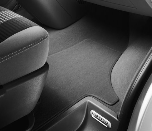 Volkswagen Original Velours Textil Fußmatten vorn (T5 Transporter / Multivan)