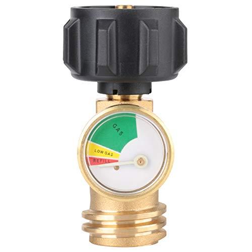 Medidor de presión de gas - Adaptador de latón de 250 PSI Medidor de presión de gas para barbacoa