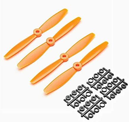 2 Pairs 6040 Bullnose 6x4 Inch ABS Propeller Prop Blade CW/CCW for RC Drone FPV Racing Multi Rotor Parts Accessories : Orange