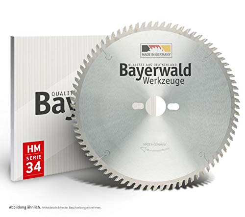 Bayerwald - HM Kreissägeblatt - Ø 254 mm x 2,8 mm x 30 mm | Trapezflachzahn negativ (80 Zähne) | für universellen Einsatz | Nagelsicher