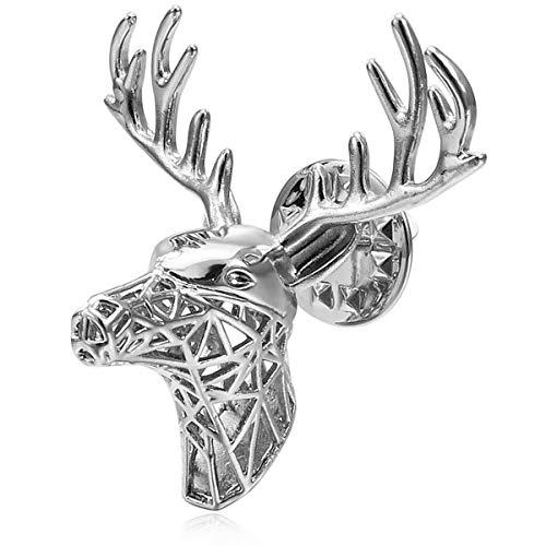 TENDYCOCO Broche de Ciervo Delicado Broche de Solapa Dorado con broches de Animal de Cadena Pin de aleaci/ón de Metal para Hombre y Mujer