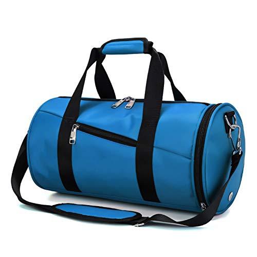Bolso de deportes, bolsa de gimnasia, bolso, bolsillo de compartimiento de zapatos, equipaje para hombres y mujeres, cabina de viaje, equipaje de casetas de vacaciones, kit de camping de la noche,Azul
