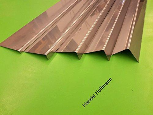 Winkelblech 2 m lang Edelstahl 0,6 mm Zuschnitt 6 cm Restposten (Kantung 30/30mm)
