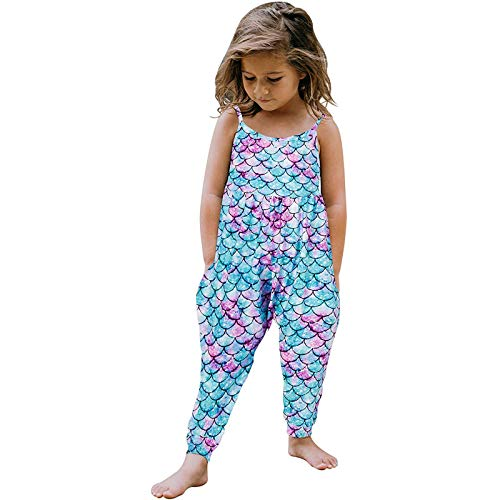 WOCACHI Toddler Kid Baby Girls African Print Sleeveless Romper Hair Band Jumpsuit Clothes 2021 Fall Under 5 Dollars New Deals Sales Bargains Green