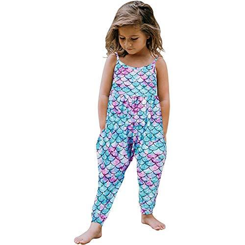 SHINEHU Baby Mädchen Sommer Strampler Ärmellose Sling Overall Kleidung Einfarbig Einfach Romper Freizeit Outdoor Süß Jumpsuit Bodysuit Mode Weste große Cool Strampler Babykleidung