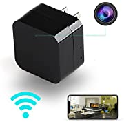 Hidden Camera, Tiny Nanny Cam Mini Spy Camera Wireless Hidden WiFi Camera Small - USB Wall Charger Security Cameras System Wireless for Home Secret-1080P HD Night Vision Motion Detection Surveillance