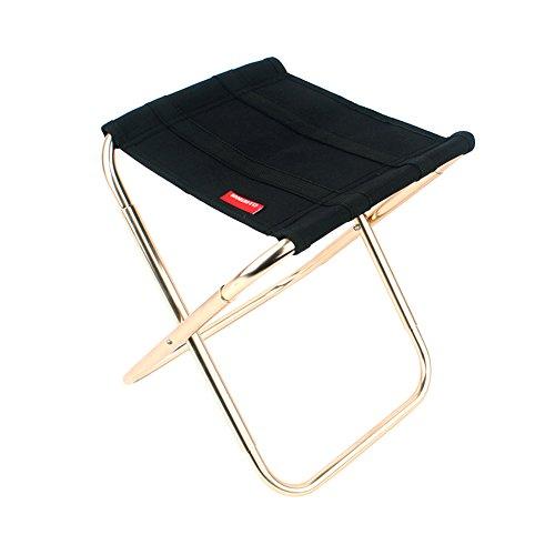 Chaise pliante extérieure avec sac de rangement pour la route / camping / randonnée / pêche / voyage / barbecue, tabouret de siège portatif en aluminium de randonnée