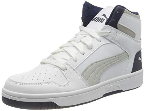 PUMA Rebound Layup SL JR Sneaker, White Gray Violet Peacoat, 39 EU