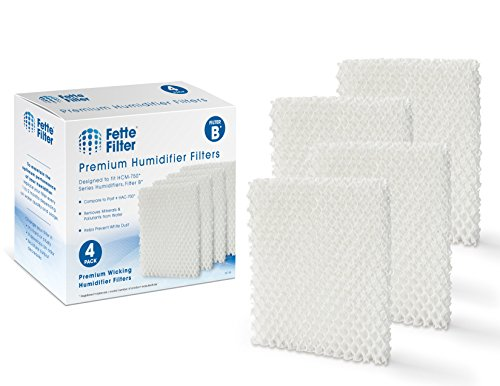 Fette Filter - Humidifier Wicking Filters. Compatible with Honeywell HAC700TV2 Filter B, 700, HAC-700V1, HAC700PDQV1, Honeywell Filter B - 4 Pack