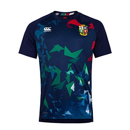 Canterbury Herren British and Irish Lions Rugby Superlight Graphic T-Shirt, Peacoat, M