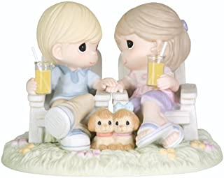 Precious Moments,  Always Be By My Side, Bisque Porcelain Figurine, 104018