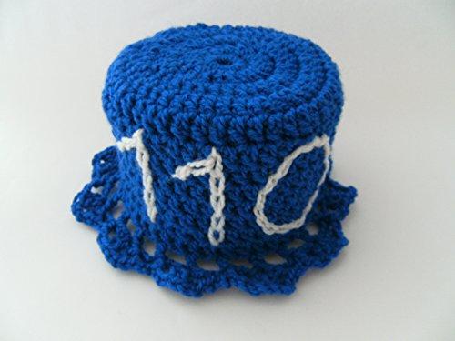 Storchenlädchen Klohut, blau, Notruf 110 Polizei, Klohüte Klopapierhut Klopapierhüte Toilettenpapierhut Toilettenpapierhüte