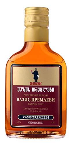 Georgischer Weinbrand VASIS ZREMLEBI, 10 Jahre Alt, 40%, 0,2Liter, aus autochthone georgische...