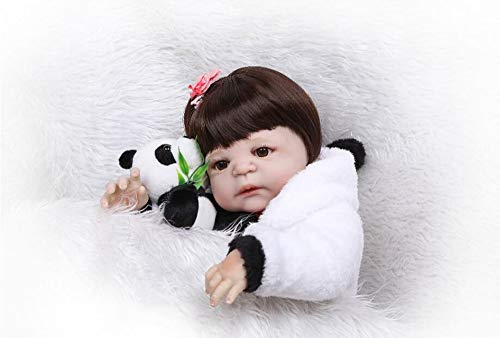 LIUXINYUE-MZ Accompany Reborn Dolls 22 Inches That Looks Real Lifelike Baby Doll Silicone Vinyl Bath Toy Newborn Soft Doll Toddlers Toys for Age 3+ Best Xmas Gift