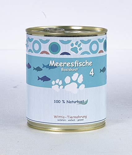 6 x 800 g - Wittis Fisch Dose für Hunde und Katzen - 100% Fisch pur, im eigenen Saft - ohne Öl! - Barf in Dosen - Nassfutter Fisch ohne Zusätze
