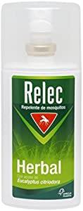 Relec Herbal Spray Repelente Eficaz Antimosquitos con Ingredientes de Origen Natural - 75 ml