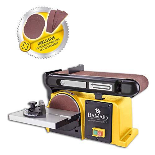 Preisvergleich Produktbild BAMATO Band- & Tellerschleifer / BDTS-900 inkl. Schleifset und Klettauflage