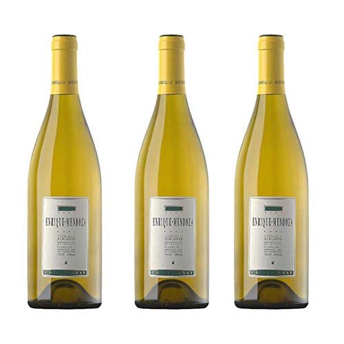 Enrique Mendoza Vino blanco - 3 botellas x 750ml - total: 2250 ml