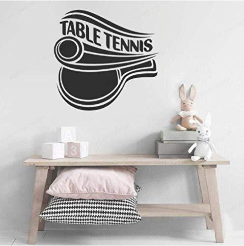 Wandaufkleber Pvc Bewegliche Dekoration Tischtennis Wandaufkleber Ping Pong Tür Aufkleber Für Innendekoration Für Teenager Schlafzimmer Stadion Wandbild 42 * 42 Cm