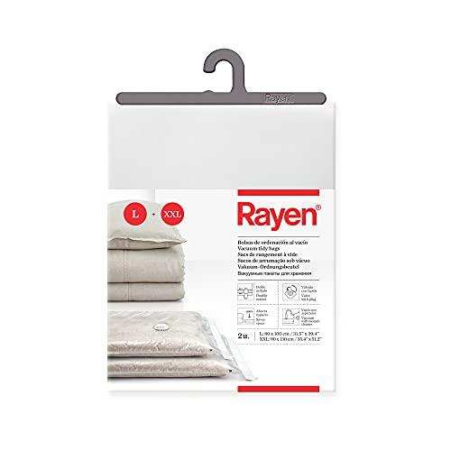 Rayen 6236 sottovuoto per Biancheria, Confezione 2 Sacchi (80 x 100 cm y 90 x 130 cm)