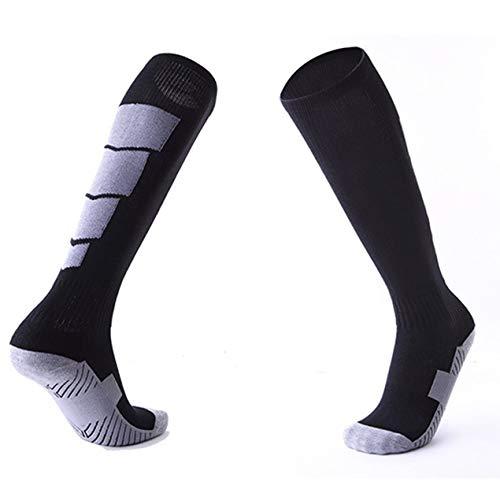 DBSUFV 1 par de Calcetines Deportivos Antideslizantes de fútbol para Hombre, Calcetines de fútbol hasta la Rodilla por Encima de Las Medias largas, Calcetines Altos para Canasta de béisbol, Deportes