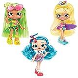 Shopkins Bundle...Shoppies Beach Style Doll Juego de 3 juegos de Play... Sandi Shores, B'Anchor y Palmela Tree contienen un exclusivo Shopkin