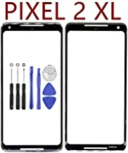 for Google Pixel 2XL Front Outer Screen Panel Glass Lens - Black Front Screen Outer Glass Panel Lens Replacement with Opening Tool for Google Pixel 2XL (Not LCD &Not Digitizer)