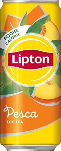 Lipton, Ice Tea, Tè Freddo al Gusto di Pesca, Poche Calorie, con Stevia, Formato Sleek da 24x0,33L