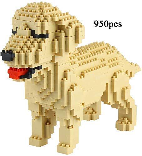 LSHUNYDE Modèle d'assemblage Animaux Chien Nano Blocs de Construction Mini Blocs 3D Puzzle Collection Série Jouets pour Adultes Enfants de plus de 14 Ans Jouet Briques-6 * 16 * 12.5 Berger Anglais,Go