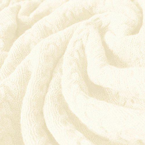 Lorenzo Cana voluminöse Luxus Alpakadecke aus 100prozent Alpaka - Wolle vom Baby - Alpaka Fair Trade Decke Wohndecke gestrickt Sofadecke Tagesdecke Kuscheldecke 9624777