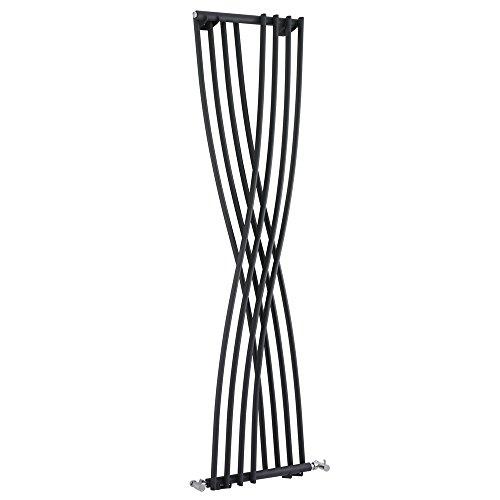 Hudson Reed Design Heizkörper Vertikal aus Stahl - Xite Anthrazit - 1775 x 450 mm