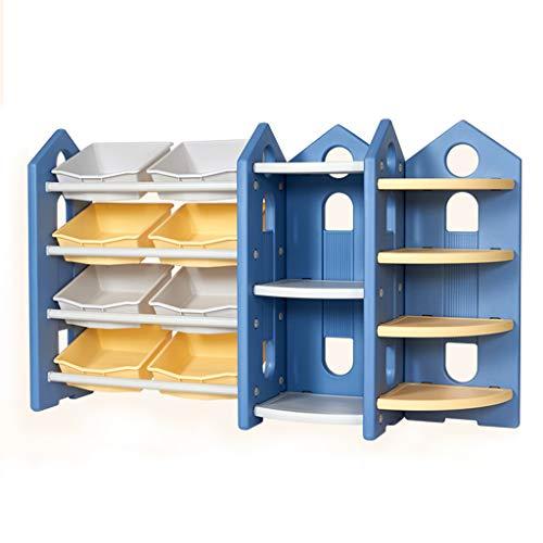Bibliothèque Support De Stockage De Jouet Étagère Étagère De Jouet Multicouche Armoire De Jouet Cadeau pour Enfants (Color : Blue, Size : 153X94X38CM)