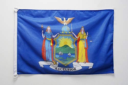 AZ FLAG Flagge New York 90x60cm - Bundesstaat New York Fahne 60 x 90 cm Aussenverwendung - flaggen Top Qualität