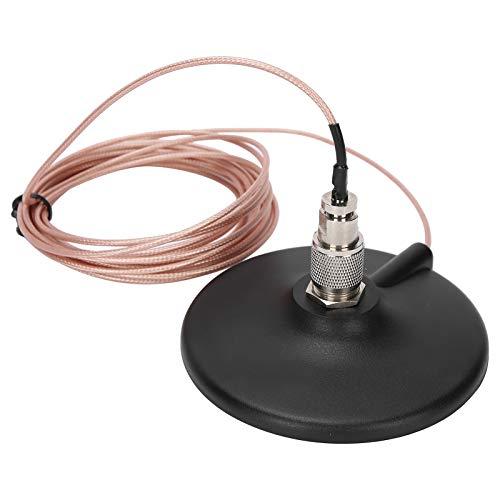 Ftory Cable alimentador de Radio de Coche Walkie-Talkie-MR5T-1.5 Cable alimentador de Radio de Coche Walkie-Talkie magnético Cable M Cabeza Desmontable Interfaz MJ-MP