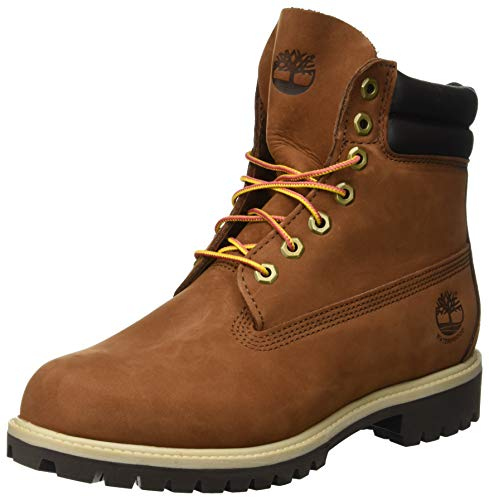 Timberland Herren 6 In Double Collar Waterproof Klassische Stiefel, Rot (Rust Nubuck 643), 41.5 EU