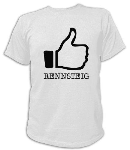 Artdiktat T-Shirt I like Rennsteig Unisex, Grösse XXL, weiß