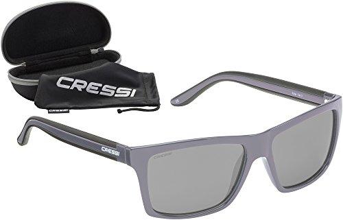 Cressi Unisex-Erwachsener Rio Sunglasses Premium Sport Sonnenbrille Polarisierte 100% UV-Schutz, Brillengestell Grau - Hellgraue Linsen, Einheitsgröße