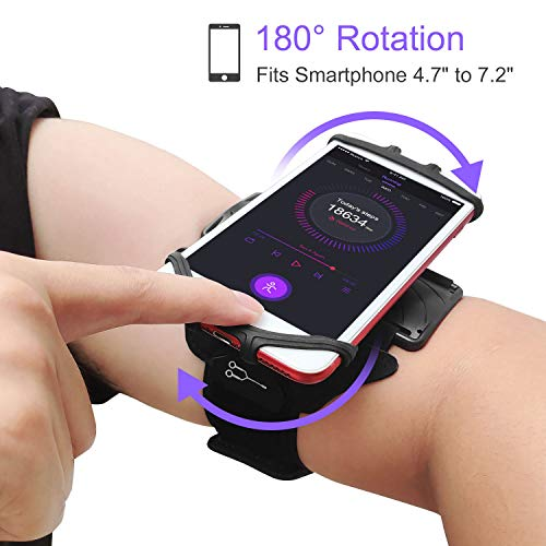 JEMACHE Running Workouts Cell Phone Armband Holder for iPhone 12, 12 Mini, 11 Pro Max, XS XR, Samsung Galaxy S20 S10 Plus, S20 FE, Note 9 10 20 Plus, Note 20 Ultra, Google Pixel 5 4a