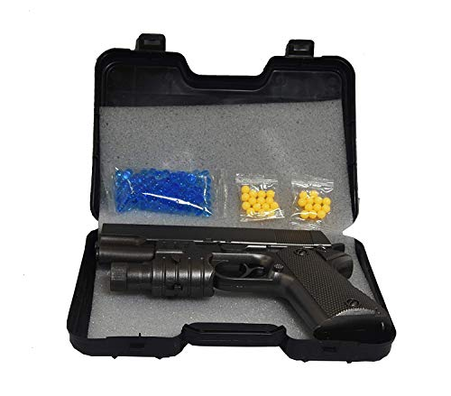 TOYMANIA Amazing PUBG Shooting Toy Gun for Kids.   with Soft Crystal Water Bullets and Ultra Sonic Laser Light Feature.   Very Long Shooting Range. (Black Color)