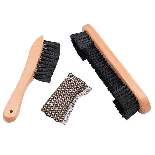 3 Stück / Set Reinigungswerkzeuge für Snooker-Billardtische, Queue-Reiniger aus Holz, Billardbürste mit Stoffbezug, Schienenbürste zur Reinigung und Wartung von Billardtischen und Billardtischen