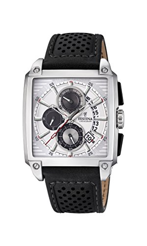 Festina Herren Chronograph Quarz Uhr mit Leder Armband F20265/1