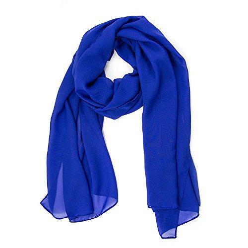 MANUMAR Schal für Damen einfarbig | Hals-Tuch in dunkel-blau als perfektes Herbst Winter Accessoire | Klassischer Damen-Schal | Stola | Mode-Schal | Geschenkidee für Frauen und Mädchen