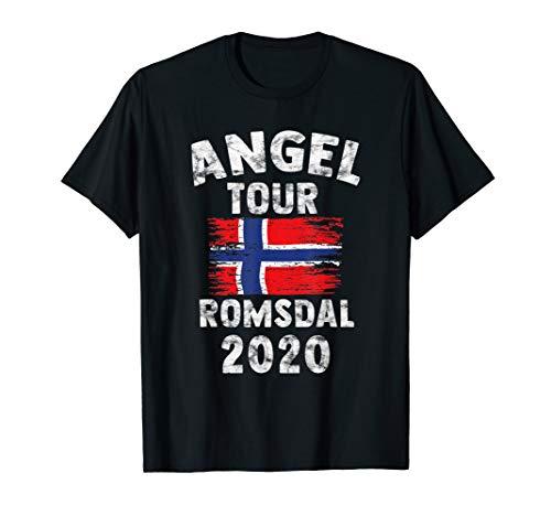 Romsdal 2020 - Angel Tour nach Norwegen mit Flagge T-Shirt