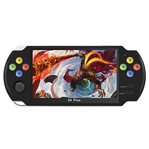 Schermo LCD da 5,1 pollici console di gioco portatile arcade retrò design a forma di arco Pulsante in cristallo colorato 3000 giochi incorporati possono essere archiviati video   musica AV OUT (Nero)