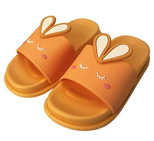 KVbabby Kinder Dusch-& Badeschuhe Jungen Mädchen Ultra-weich Hase Hausschuhe Badelatschen Anti-Rutsch Slipper 27/28 EU = Hersteller 28/29